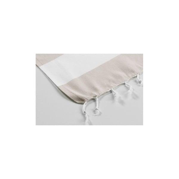 Hammam osuška Myra Beige White, 100x180 cm