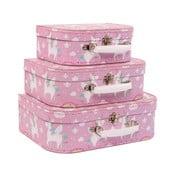 Sada 3 ružových kufríkov Sass & Belle Rainbow