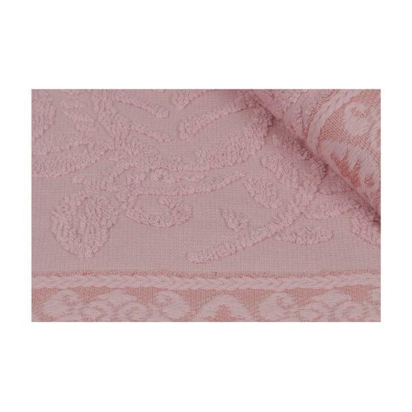 Sada 2 ružových bavlnených uterákov na ruky Catherine, 50×90cm