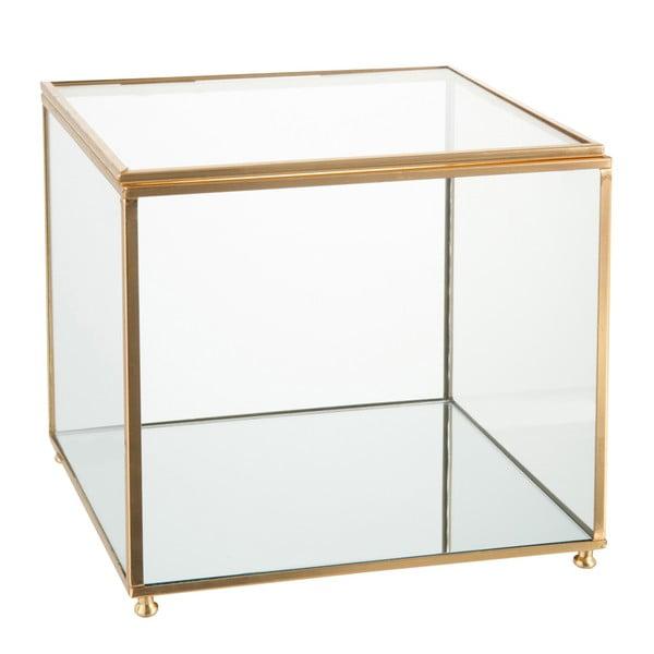 Sklenená šperkovnica J-Line Gold, 18x16cm