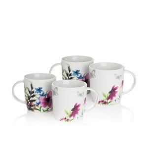 Sada 4 porcelánových hrnčekov Sabichi Lydia, 360ml