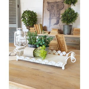 Podnos Tray White Antique