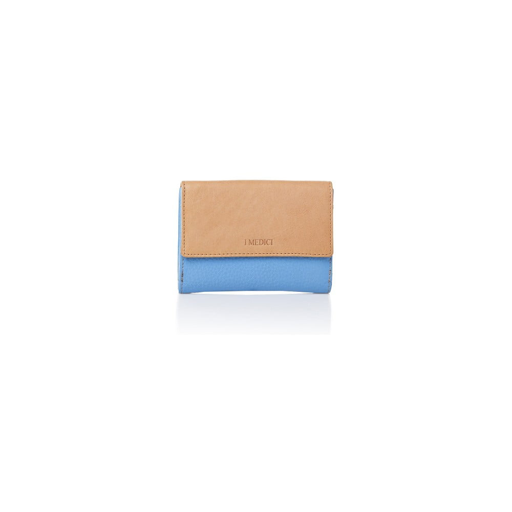 76ebc906f6 Modro-béžová kožená dámska peňaženka Medici of Florence Sisto