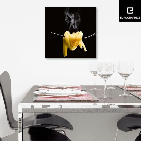 Sklenený obraz Spaghetti Al Dente, 30x30 cm