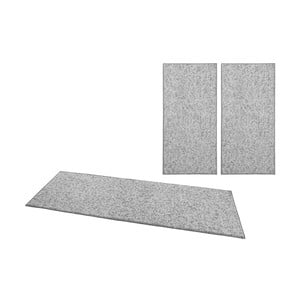 Sada 3 kobercov BT Carpet Wolly v sivej farbe