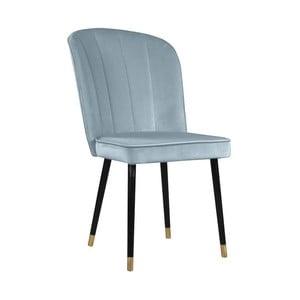 Modrá jedálenská stolička s detailmi v zlatej farbe JohnsonStyle Leende