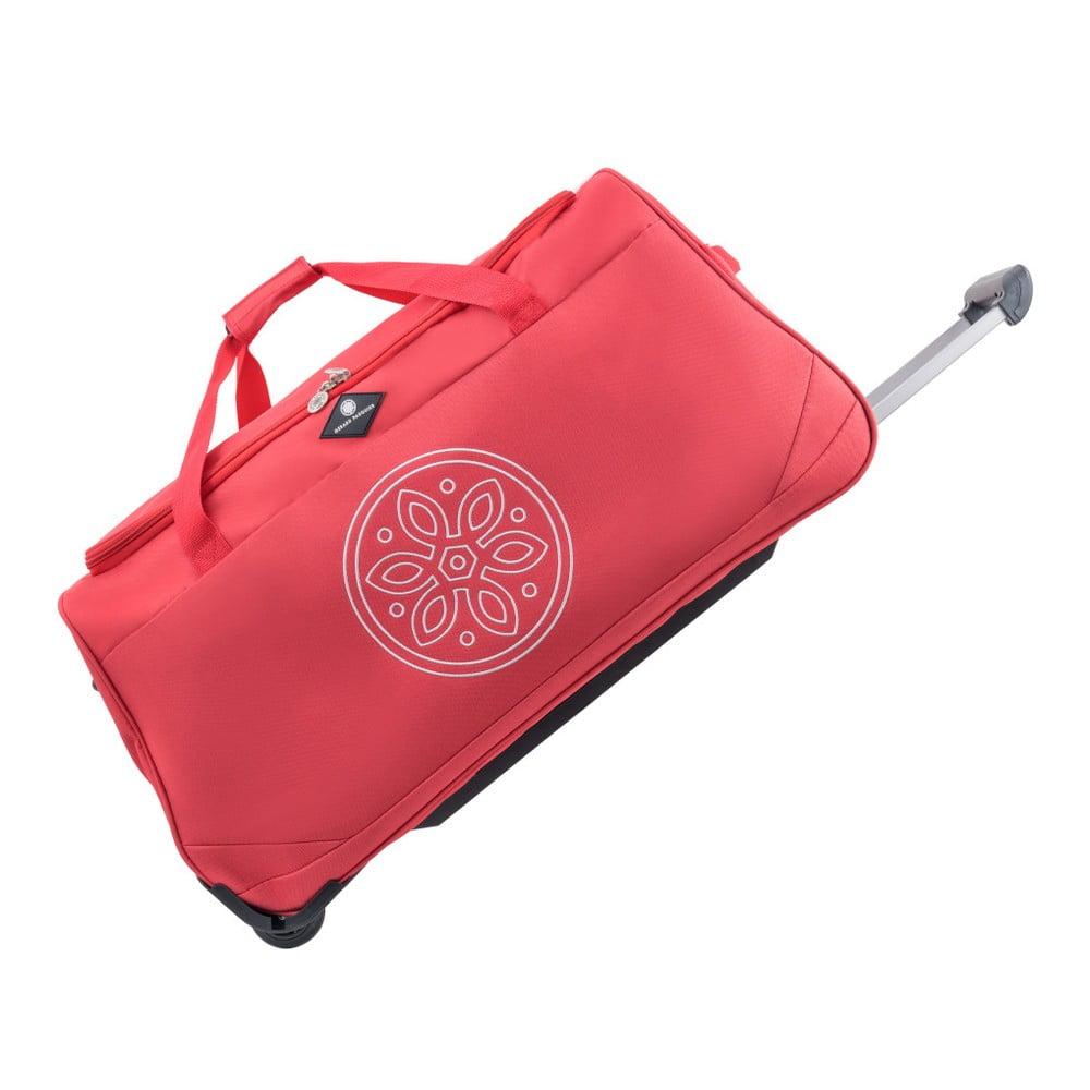 Červená cestovná taška na kolieskach GERARD PASQUIER Miretto, 61 l