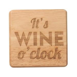 Podložka pod pohár z exotického dreva T&G Woodware It 'Wine O'Clock