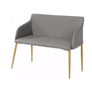 Sivá lavička s drevenými nohami Støraa Nimbus
