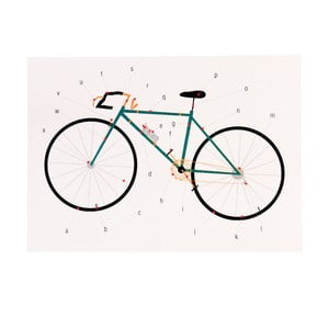Prázdne narodeninové prianie s obálkou Rex London Anatomy Of a Bicycle