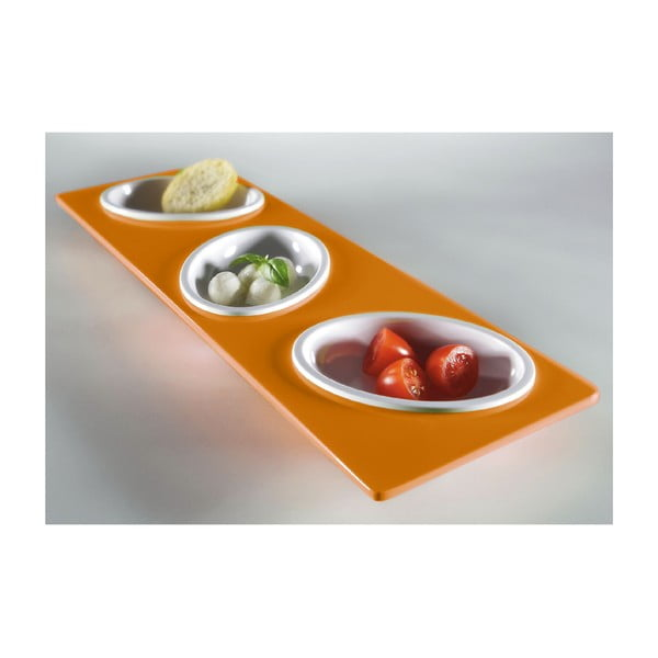 Oranžový servírovací set Entity, délka 30cm