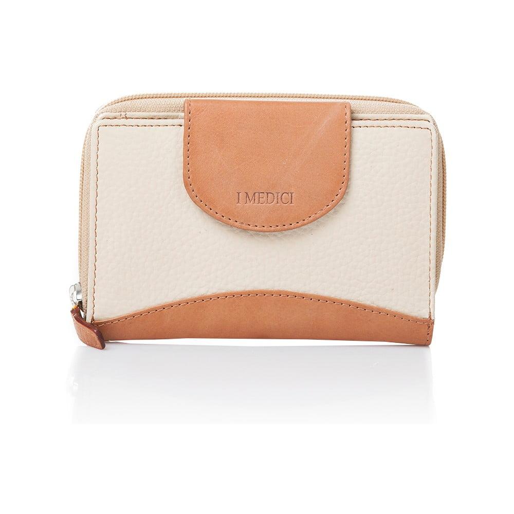 1c0db6e32c Krémová kožená dámska peňaženka Medici of Florence Patrizia