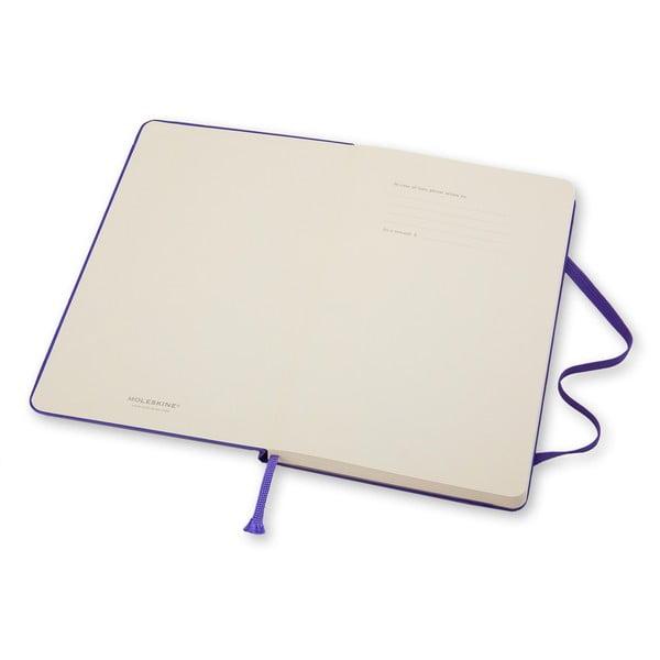Malý fialový zápisník Moleskine Hard, linajkový
