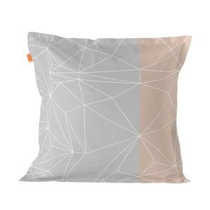 Balvnená obliečka na vankúš Blanc Range, 60×60 cm
