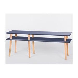 Grafitovosivý konferenčný stolík Ragaba Mugo,dĺžka119 cm
