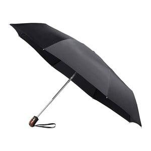 Čierny skladací dáždnik Bois Minimal