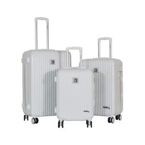 Sada 3 bielych cestovných kufrov LULU CASTAGNETTE Darwin