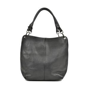 Čierna kožená kabelka Anna Luchini Sally
