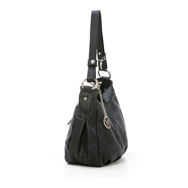 Kožená kabelka Stefano, čierna