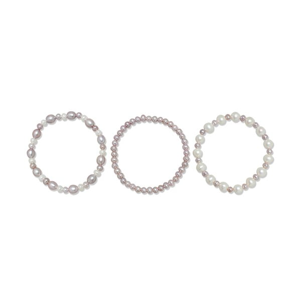 Set náramkov Yamato Pearls Lila, 3 ks