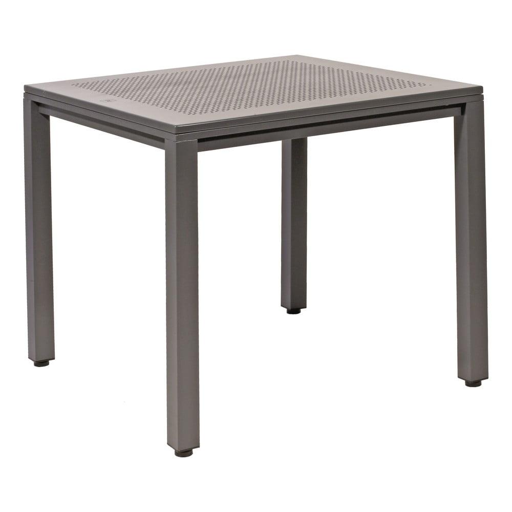 Šedý záhradný hliníkový stôl Resol Born, 80 x 80 cm