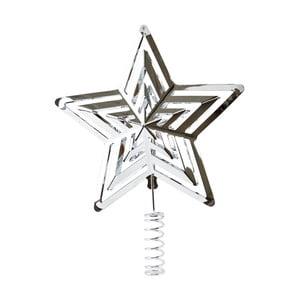 Hviezda na vianočný stromček v striebornej farbe KJ Collection, 19 cm
