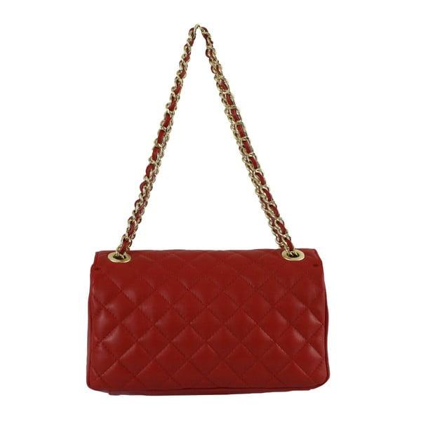 Červená kožená kabelka Chiara