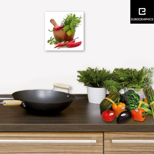 Sklenený obraz Flavoring Spices, 20x20 cm