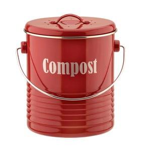 Červený kuchynský kompostér Typhoon Vintage Caddy