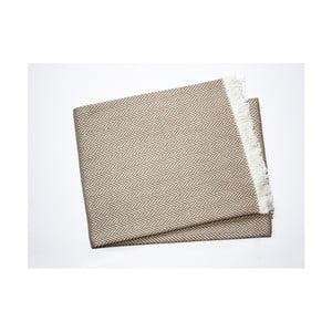 Hnedosivý pléd s podielom bavlny Euromant Sky, 140×250 cm