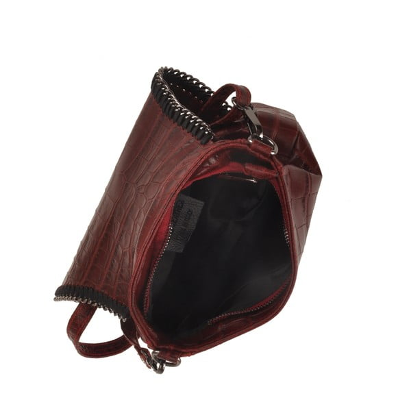 Kožená kabelka Emilio Masi Star, vínová