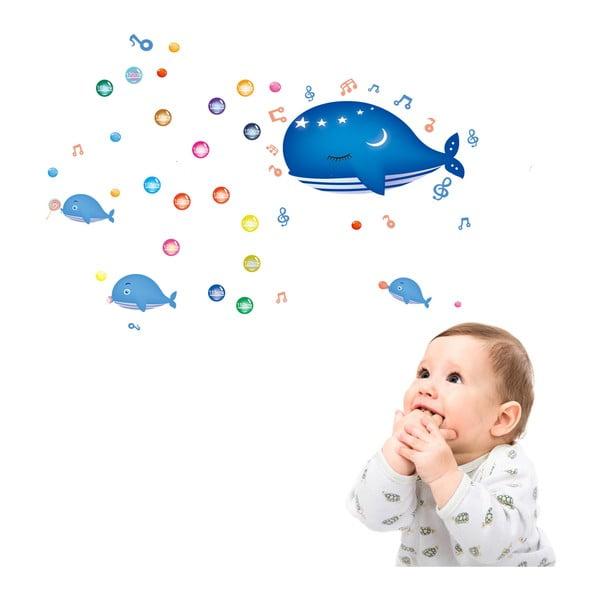 Samolepka s metrom Fanastick Whale and Bubbles