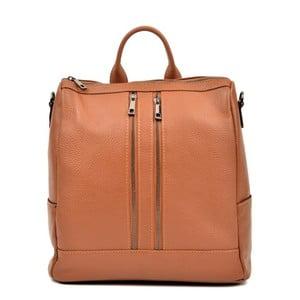 Koňakovohnedý kožený batoh Luisa Vannino Tara