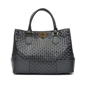Čierna kožená kabelka Carla Ferreri Misma Renna