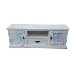Biely televízny stolík z mangového dreva SOB Rustic