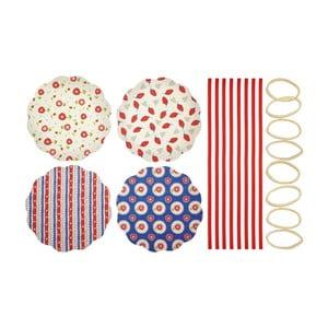 Sada 8 textilných ozdôb na zaváranie Kitchen Craft Heart