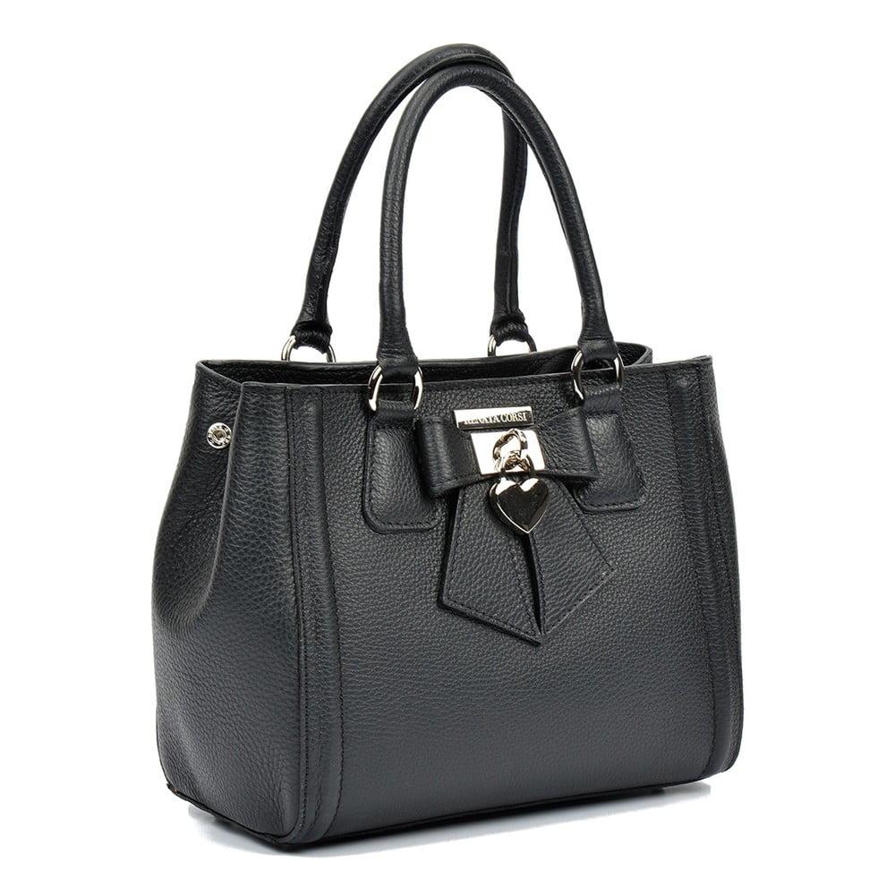 Čierna kožená kabelka Renata Corsi Serena ... f5efa9d0a5c