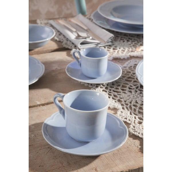 Sada 6 polievkových tanierov Favola Azzuro