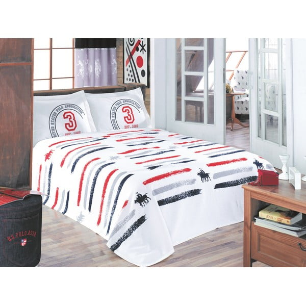 Sada prikrývky cez posteľ a prestieradla U.S. Polo Assn. Monroe, 200x220 cm