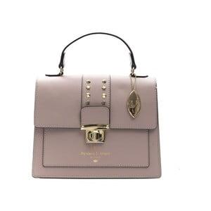 Ružovobéžová kožená kabelka f.e.v. by Francesca E. Versace Salima