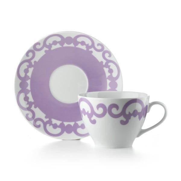 Hrnček s tanierikom  Arabesco Violet