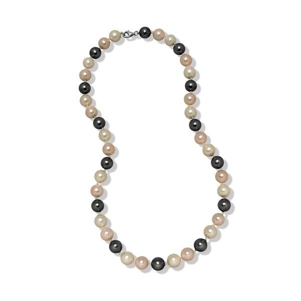 Ružovo-sivý náhrdelník Mara de Vida Perldor, dĺžka 50cm