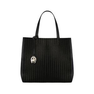 Čierna kožená kabelka Beverly Hills Polo Club Paulee