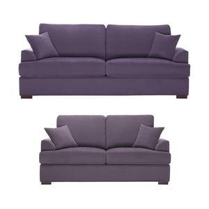 Dvojdielna sedacia súprava Jalouse Maison Irina, fialová