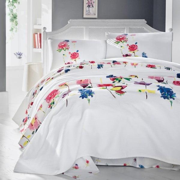Ľahká prikrývka cez posteľ Spring, 200x235 cm