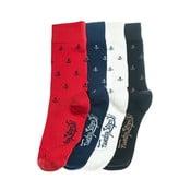 Sada 4 párov unisex ponožiek Funky Steps Bro, veľkosť 39/45