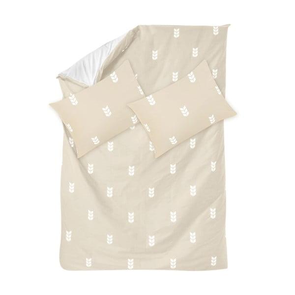 Béžové obliečky Hawke & Thorn Finch Straw, 240 x 220 cm + vankúš 50 x 60 cm