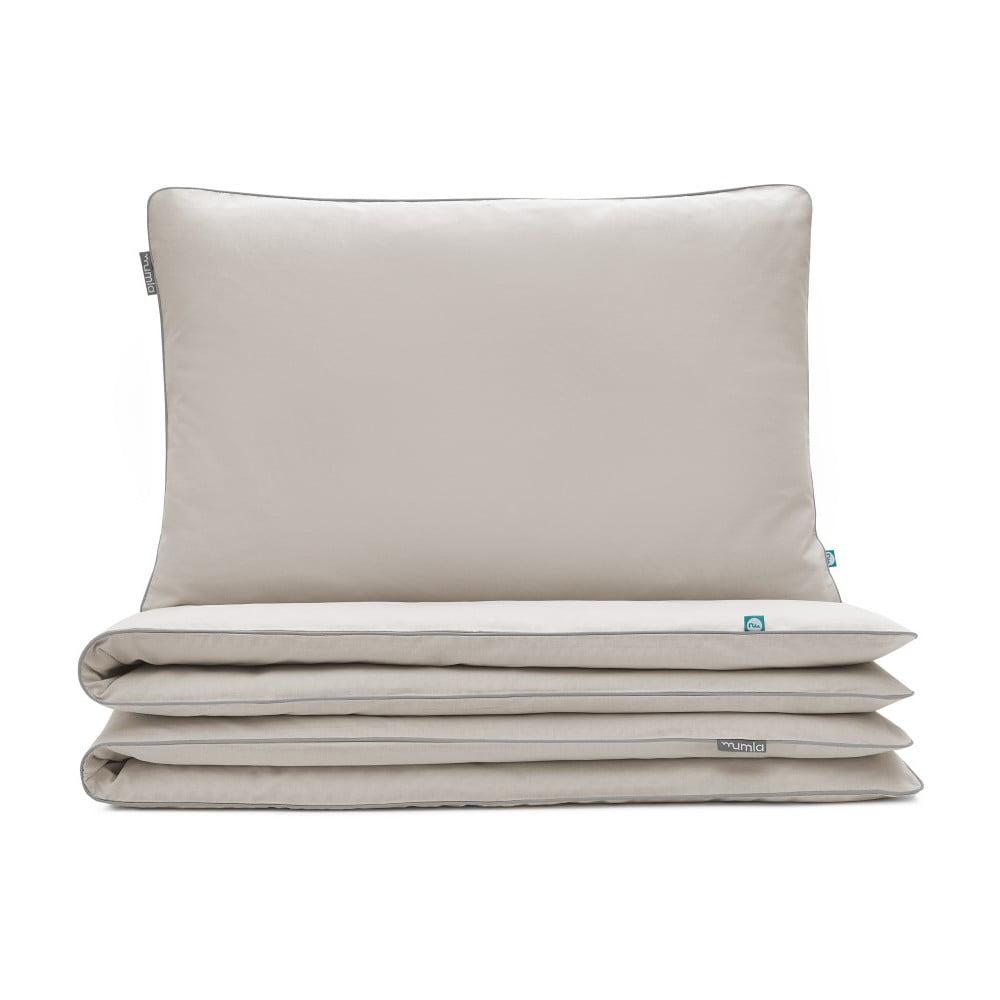 Béžové detské bavlnené posteľné obliečky Mumla, 90 × 120 cm
