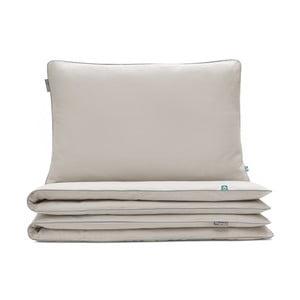 Béžové bavlnené posteľné obliečky Mumla, 140×200 cm