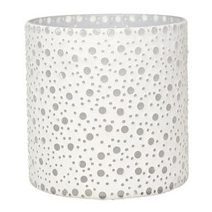 Svietnik Dots in White, 16,5 cm